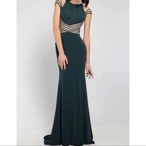 Fitted Floor Length Jersey Gown